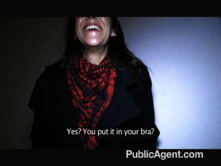 publicagent - spanisch Brünette Sex im Freien