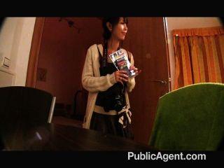 publicagent - winzige japanische Pussy schlug