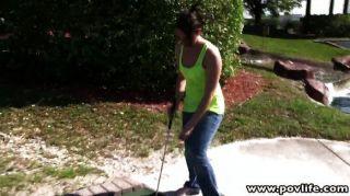 Golf Babe Muschi gerammt