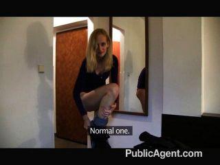 publicagent - dünn Blondine in einem Hotel gefickt