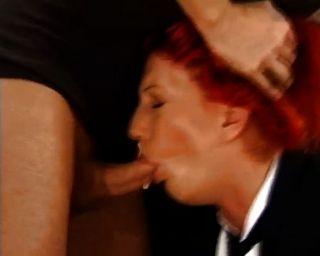 grobe anal für sexy Rotschopf