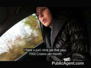 publicagent - junge schwarze Haare Fick auf Auto