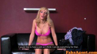 fakeagent sexy Blondine nimmt Creampie