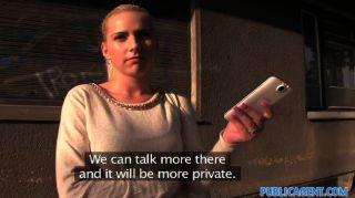 publicagent - Blondine auf allen Vieren gefickt