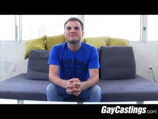 twink klafft sein Loch in Homosexuell Porno-Casting