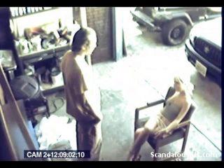 Liebhaber harten Sex auf Spy-Cam gefangen mit
