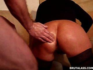 brutalen Objekte und Doppel Fisting anal