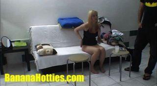 schüchtern tschechische Blondine beim ersten Casting