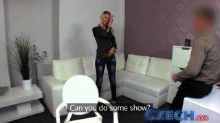 tschechisch - blonde nimmt zwei Schwänze in Gießen