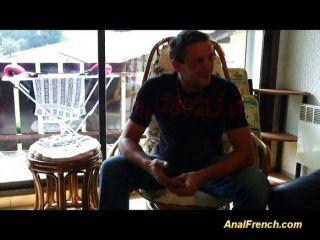 Französisch Babe nimmt eine Gruppe von Schwänzen