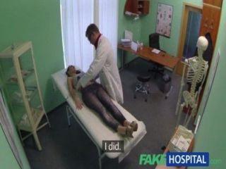 fakehospital sexy britische Patient schluckt Doktorrat