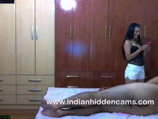 verheiratet Amateur indischen Paar Sex im Schlafzimmer immer frech