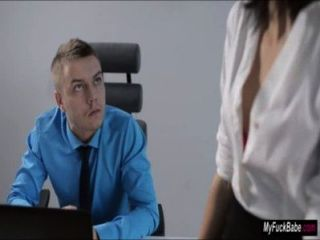 sexy Sekretärin sheri vi verführt ihren Chef und fickt ihn