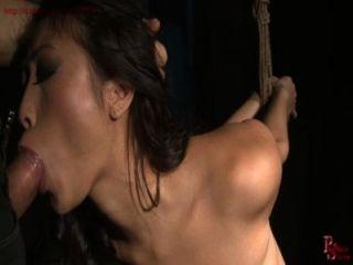 französisch Gör Mädchen bekommt Bondage