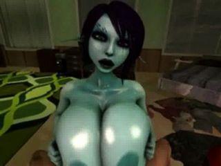 soria nutzt ihre große geölte Titten für Titty fucking