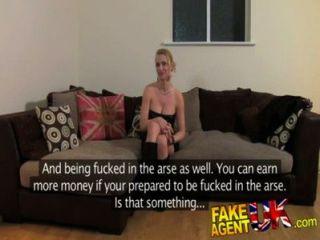 fakeagentuk schmutzig heiß euro Mädchen in anal Casting