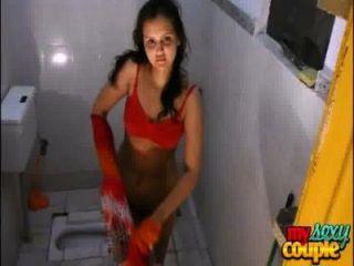 indische Amateur Paar sonia und sonnig Hardcore-Sex in der Dusche