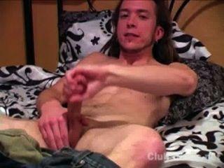 muskulös gerade Kerl matt Masturbieren