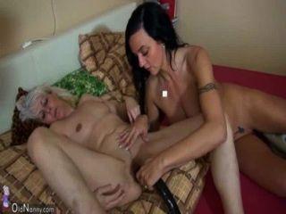 oldnanny alte dünne Frau mit jungen Mädchen und ihr Freund masturbieren