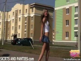 florida blinken außerhalb ihrer Wohnung ihr Höschen