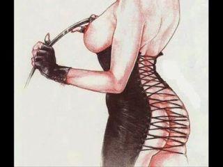 Domina Fetisch-Kleidung bdsm bondage Verschleiß Kunst strapon Comics