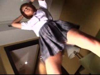 Schülerin Tanzen Unterwäsche Stil zu sein, nimmt BH ihre hübschen Titten zu zeigen