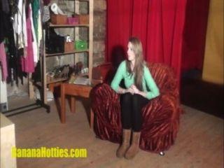schüchtern Hottie bei ihrem ersten Casting je