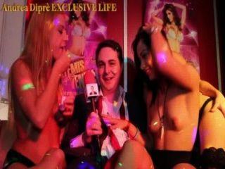 Orgie Partei von drei bösartige Mädchen mit andrea dipr