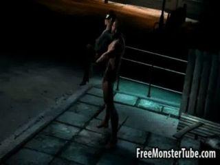 3d cartwoman von Wolverine hart gefickt
