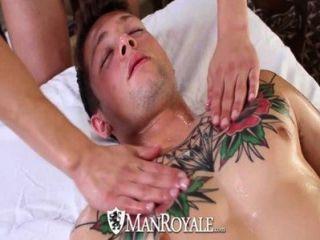 hd - manroyale Hardcore Massage und Arsch hämmerte für zwei große Stücke