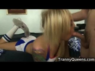 Tranny Teen Cheerleader!