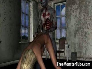 hot 3d blonde Honig immer von einem zombieombie-high 1