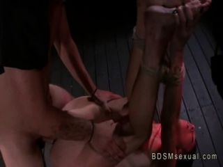 mit rauen Seil Babe gefickt von ihrem Meister gebunden