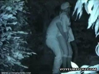 Outdoor-Sex Paare spät in die Nacht verdammt