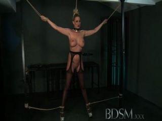 bdsm xxx Master gibt blonde Schönheit eine Hardcore-Lektion in Bezug
