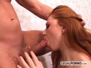 heiße Rothaarige und ein Mann mit großen Schwanz harten Sex wk-2-04 mit