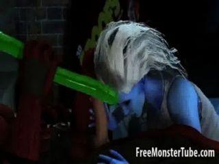 hot 3d Babe wird von Deadpool geleckt und gefickt