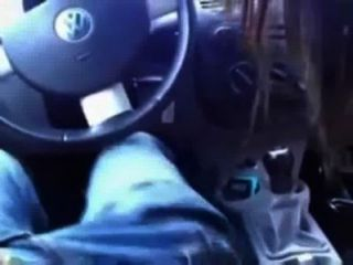 Creampie im Auto
