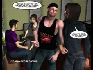 Twink Kerl vs Transvestiten Rock Diva fanny 3d Homosexuell Comics