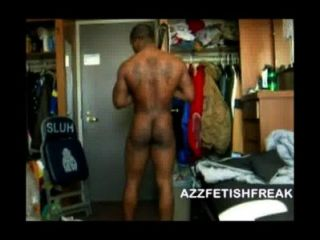 azzfetishfreak - sexy schwarzen Kerl zeigt off Körper, Schwanz & Esel