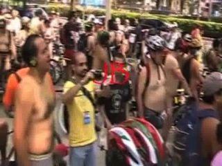 ciclista desnudos en la ciudad Mexiko 2011
