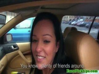 echte Euro babes Creampie in ihrem Taxi