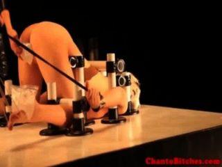 lezdom Meister Eis Spiel mit geknebelt sub