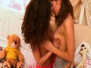 geile Lesben küssen Teenager