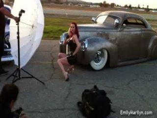 emily marilyn hinter den Kulissen Foto-Shooting