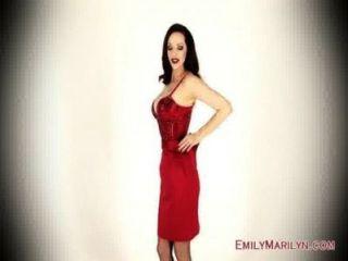 emily marilyn Königin von Bein necken