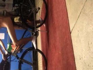 mich und mein Fahrrad
