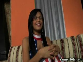 große Beute Shemale Tranny rammte mit bbc