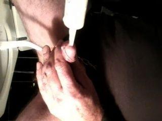 Milch Einfügung in Penis und Sperma
