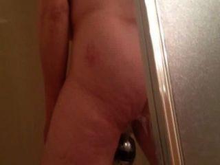 Ausspionieren von marie Wichsen unter der Dusche